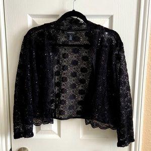 R&M Richards 3/4 Sleeve Sequin Jacket sz XL NWT